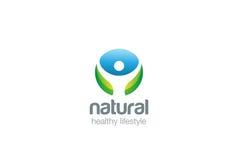 Eco Health green Logo design vector circle Stock Photo