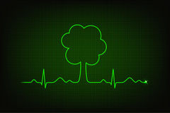 Eco heart beat Stock Images