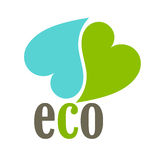 Eco hearts Royalty Free Stock Images