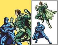 Eco Hero vs Dark Hero royalty free illustration