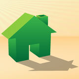 Eco home Royalty Free Stock Photo