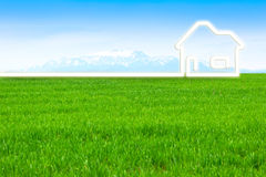 Eco Home. Concept illustration about new eco home for save the planet Royalty Free Stock Images