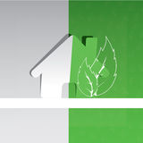 Eco home background design. With house sticker Stock Images
