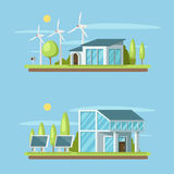 Eco home concept banner on Royalty Free Stock Photography