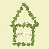 Eco home icon. Vector Stock Photography