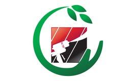 Eco Home Insulation. Logo Design Template Vector Royalty Free Stock Photos