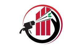 Eco Home Insulation. Logo Design Template Vector Stock Photography