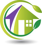 Eco home logo. Illustration art of a Eco home logo with  background Royalty Free Stock Photo