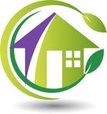 Eco home logo Royalty Free Stock Photo