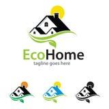 Eco Home Nature Logo Template Design Vector Stock Photography