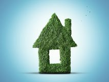 Eco home. Small house of spruce needles Stock Photos