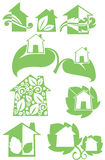 Eco homes Royalty Free Stock Photos