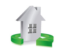 Eco  house. Illustration of an eco house Royalty Free Stock Image
