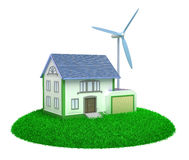 Eco house. Isolated 3D image royalty free illustration