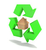 Eco house. 3d illustration of energy efficient house Stock Image