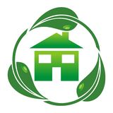 Eco house -. Illustration on white Royalty Free Stock Images