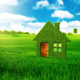 Eco house. Abstract environmental backgrounds Stock Images