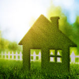 Eco House. Abstract environmental backgrounds with beauty bokeh Royalty Free Stock Photo