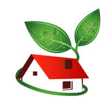 Eco house abstract Royalty Free Stock Photography