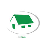 Eco house art vector illustration Royalty Free Stock Image