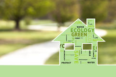 Eco house on blurred background Stock Photography