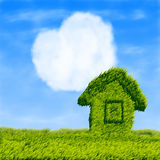 Eco house and cloud heart Royalty Free Stock Image