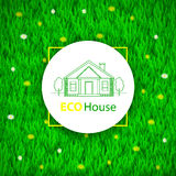 Eco House colorful background. Royalty Free Stock Photography