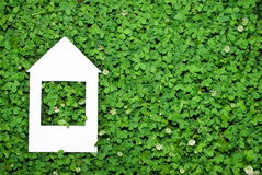 Eco house concept. On clover glass Stock Photography