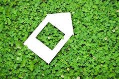 Eco house concept. On clover grass Stock Photo