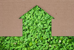 Eco house concept. Texture for design Royalty Free Stock Photo
