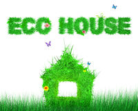 Eco house. The conceptual image of the ecological house for design Stock Image