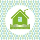 Eco house decorative circle background green Stock Photography