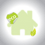 Eco house design with sticker Stock Photography