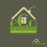 Eco house eco-friendly natural materials dark background Royalty Free Stock Photos
