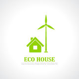 Eco house emblem Stock Photography
