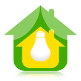 Eco house and green energy Stock Photo