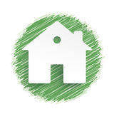Eco House Green Scribble Stock Photography
