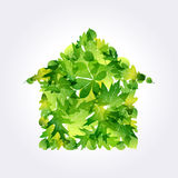 Eco house icon Royalty Free Stock Photo
