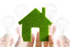 Eco house icon. Energy concept Stock Images