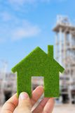 Eco house icon Royalty Free Stock Photography