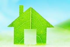 Eco house icon concept. Green energy, ecology environment symbol sign Stock Photos