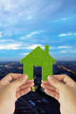 Eco house icon concept Stock Images