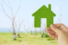 Eco house icon concept Stock Photo