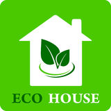 Eco house icon Royalty Free Stock Images