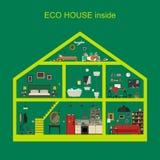 Eco house inside Royalty Free Stock Photos