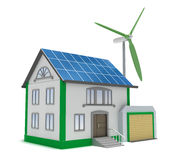 Eco house isolated 3D concept Royalty Free Stock Images