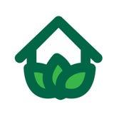 Eco House Logo Stock Photography