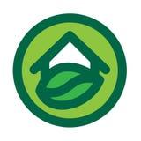Eco House Logo Royalty Free Stock Photography