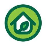 Eco House Logo Royalty Free Stock Image