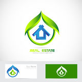 Eco house logo Royalty Free Stock Photography